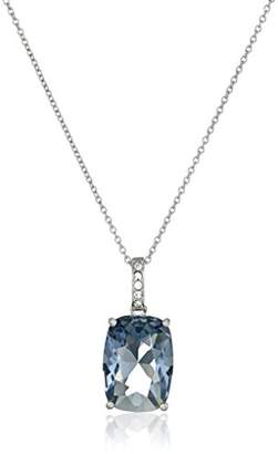 Swarovski Sterling Silver Color and Clear Crystal Pendant Necklace