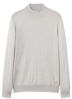 Mango man MANGO MAN Stripe patterned wool sweater