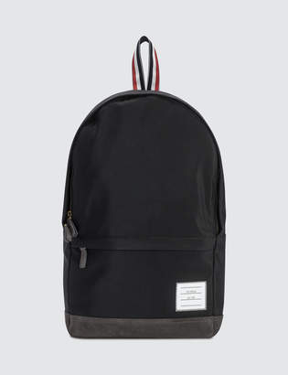 Thom Browne Unstructured Backpack In Nylon Plain Weave + Suede
