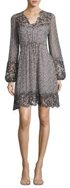Elie Tahari Tally Printed Silk Dress $498 thestylecure.com