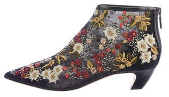 Christian Dior 2017 Dioreve Embroidered Ankle Boots