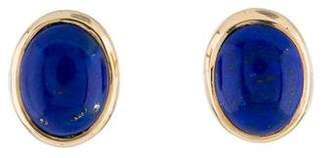 Lapis 14K Oval Stud Earrings