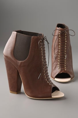 Givenchy Shoes Lace Up Open Toe Ankle Bootie