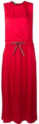 Love Moschino sleeveless drawstring maxi dress