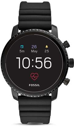 Fossil Q Explorist HR Silicone Strap Touchscreen Smartwatch, 45mm