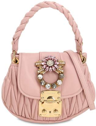 Miu Miu Mini Coffer Crystal Buckle Leather Bag