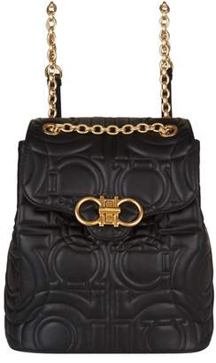 Salvatore Ferragamo Leather Quilted Backpack