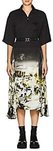 Prada Women's Photo-Print Belted Dress - Black