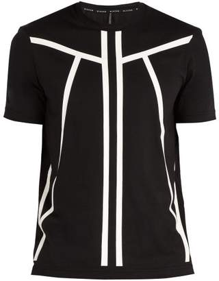 BLACKBARRETT by NEIL BARRETT Linear Print Cotton T Shirt - Mens - Black White