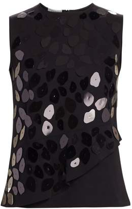 Akris Punto Leo Paillettes Sleeveless Top