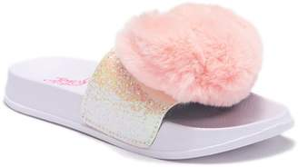 Jo-Jo JOJO SIWA Faux Fur Heart Slide Sandal (Little Kid & Big Kid)