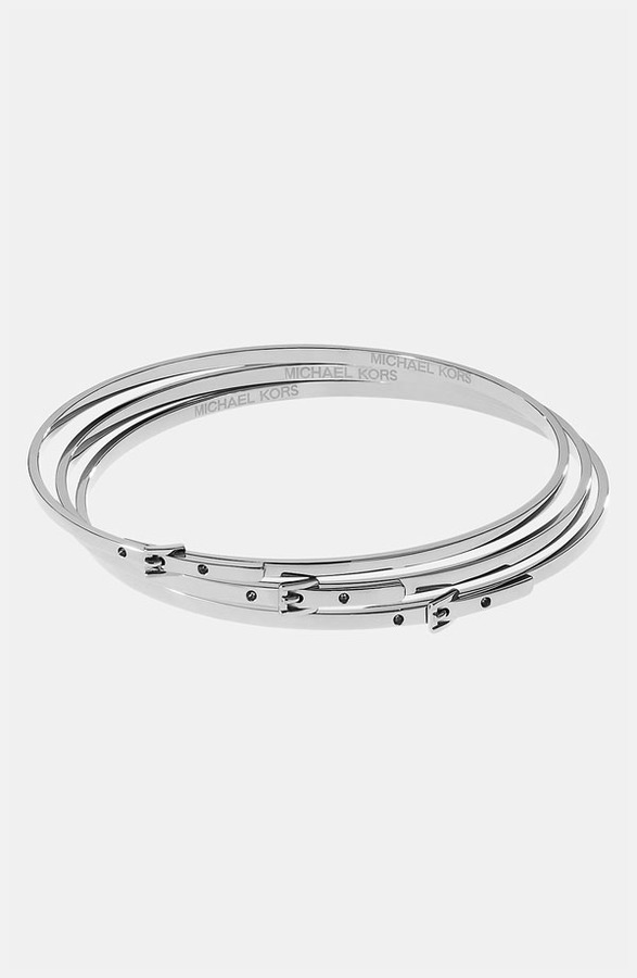 Michael Kors Buckle Bangles (Set of 3)