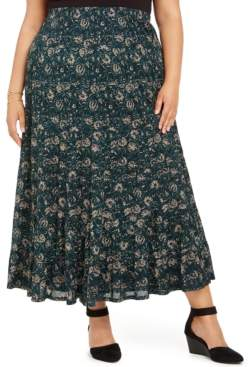 Style&Co. Style & Co Plus Size Printed Maxi Skirt, Created For Macy's