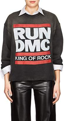 "Madeworn Women's ""Run DMC"" Distressed Cotton-Blend Sweatshirt"