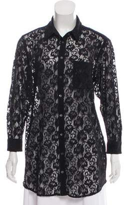 Equipment Lace Button-Up Top w/ Tags