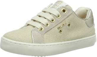 Geox Kids J Kiwi G. B Sneakers, White/Gold