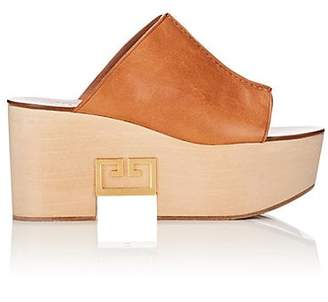 Givenchy Women's Logo-Detailed Leather Platform Mules - Beige, Tan