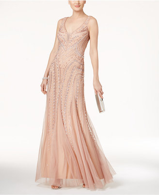 Adrianna Papell Beaded Illusion Gown $349 thestylecure.com