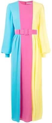 Emilia Wickstead colour block long dress