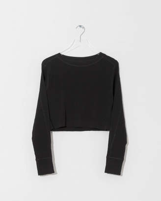 Alexander Wang Rib Long Sleeve Cropped Sweater