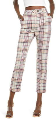 Leith High Waist Straight Leg Ankle Pants