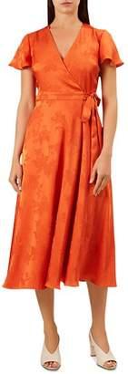 Hobbs London Eleanor Short-Sleeve Wrap Dress