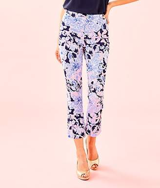 """Lilly Pulitzer 27 1/2"""" Kelly High Rise Crop Flare Pant"""