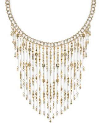 Kendra Scott Maxen Statement Bib Necklace in Smoky Mix and Gold Plated