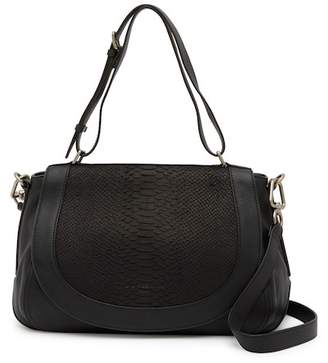 Liebeskind Berlin Dinard Snake Embossed Leather Shoulder Bag