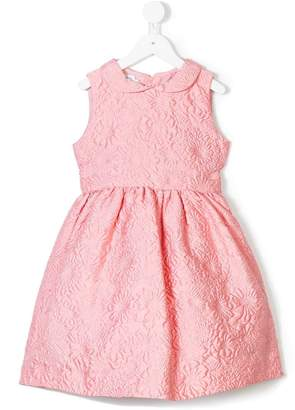 Oscar de la Renta Kids Bubble flower jacquard sleeveless dress