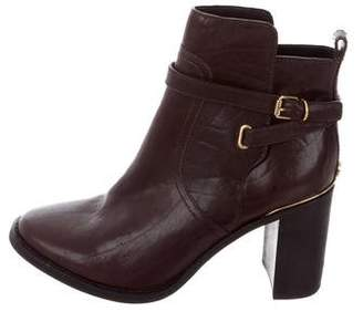 Tory Burch Leather Buckle Booties