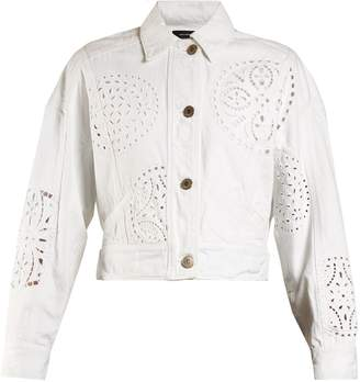 Isabel Marant Rena broderie-anglaise denim jacket