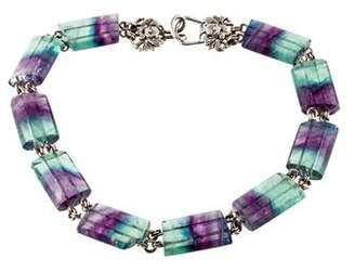 Stephen Dweck Fluorite Bead Strand Necklace