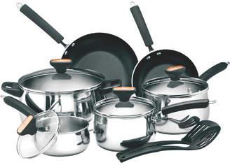 Paula Deen 12-Piece Non-Stick Stainless Steel Cookware Set
