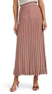 Missoni Women's Metallic Striped Ribbed Midi-Skirt - Pink