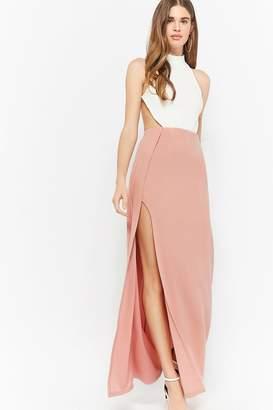 Forever 21 Contrast Halter Prom Dress