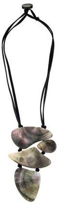 Viktoria Hayman Freeform Mother of Pearl Pendant Necklace