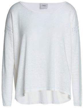 Charli Pointelle-Trimmed Knitted Sweater