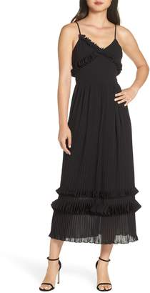 Foxiedox Love Ruffle Midi Dress