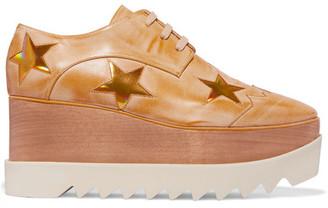 Stella McCartney - Elyse Faux Leather Platform Brogues - Gold $1,140 thestylecure.com