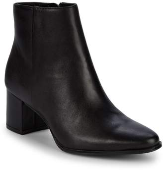 Calvin Klein Fimora Leather Ankle Boots