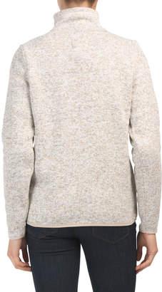 Juniors Quarter Zip Fleece Top
