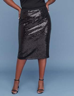 Lane Bryant Sequin Pencil Skirt