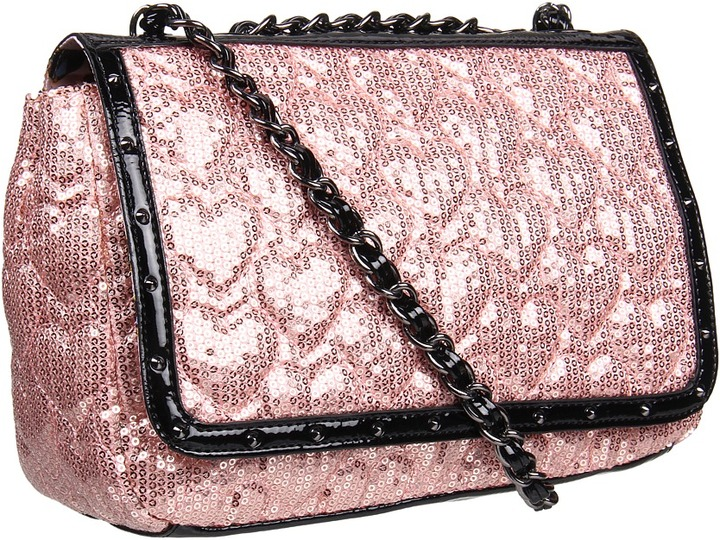 Betsey Johnson High Sequency Flapover Crossbody (Blush) - Bags and Luggage