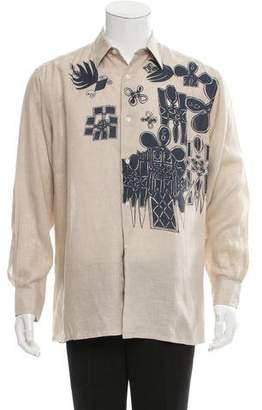 Hermes Printed Linen Shirt