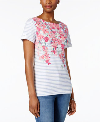 Karen Scott Floral-Print Studded Top, Only at Macy's $32.50 thestylecure.com
