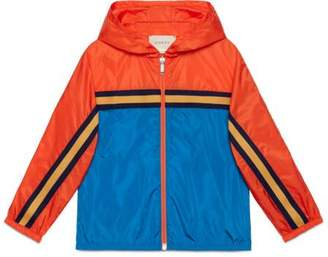 Gucci Children's nylon jacket with tiger