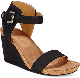 Adrienne Vittadini Ted Platform Wedge Sandals Women's Shoes $89 thestylecure.com
