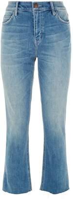 Current/Elliott Current Elliott Cropped Straight Leg Jeans