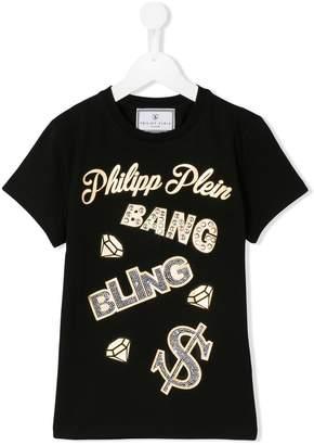 Philipp Plein Junior logo embellished T-shirt